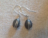"""Cape stone earrings on Sterling silver, hangs 1.5"""""""