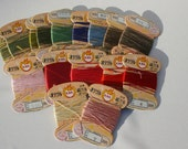 Lot of Kanagawa KNK 100% Silk Thread, 16 Partial Spools, Hand Embroidery, Needlepoint Quilting Beading Silk Thread