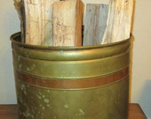 Huge Brass and Copper Bucket / Planter [Alo]
