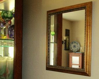 Vintage, Gold Gild, Rectangular Mirrors, Perfect Pair,  [Shel]