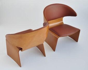 """Pair of """"Bikini"""" Teak Lounge Chairs by Hans Olsen for Frem Rojle"""