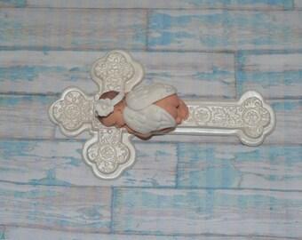 Baby Girl Angel - Baptism Baby Shower cake topper