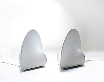 """SALE Vintage two lamps Kazuhide Takahama for Sirrah"""" Kaori 1"""",minimalist  japanese designer lamps,table or wall lamps made in Italy"""