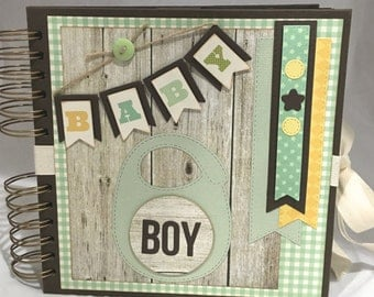 "Baby Boy Journal photo Album 8"" x 8"" inches"