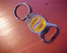 1955 Chevrolet Chevy Car Chrome Bottle Opener Classic Collector Car Key Ring THE OUTLAW Rare New Old Stock Item
