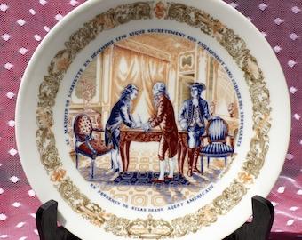 Vintage 1973 Le Potrimoine De Lafayette Collector's Plate