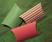 Small Christmas Pillow Boxes - Set of 3