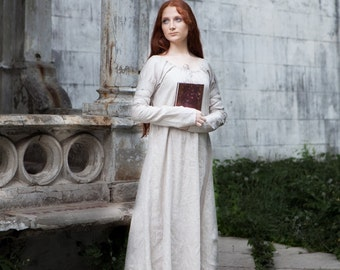 "Linen Chemise ""Sansa""; Fixed Sizes; Ready to Ship; Medieval Renaissance dress; Discounted Price"