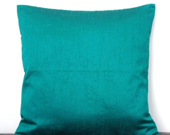 Teal Green Pillow, Solid Pillow, Green Throw Pillow, Green Cushion, Green Pillow Cover, Decorative Pillow, Accent Pillow, 18x18 pillows