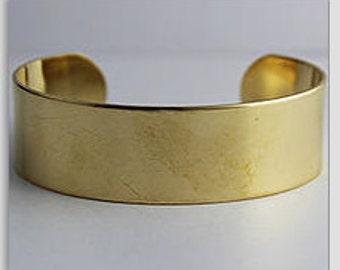 """2 Brass Cuff, 3/4"""" wide, Wide Cuff, Bracelet, Bangle"""