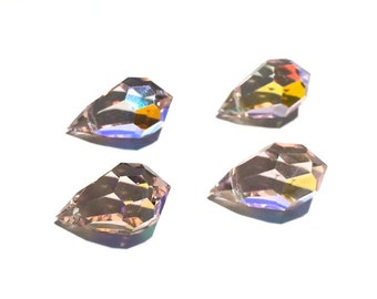 4 - 15x9 mm Rosaline AB Preciosa Crystals Tear Drops