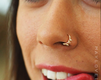 Nose ring/Nose hoop/Tragus/Cartilage/Helix piercing gold nose hoop, small gold hoop, body jewelry, gold silver tiny gold nose hoop earring