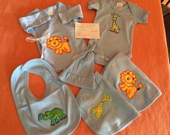 0-3 month blue baby bundle