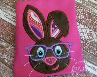 Geeky Easter Bunny with Glasses - Custom monogram - Infants to Youth