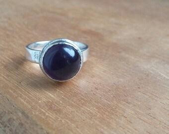 Amethyst ring Gemstone ring Silver ring Birthstone ring Silver amethyst ring Amethyst jewelry Amethyst Purple ring Silver amethyst