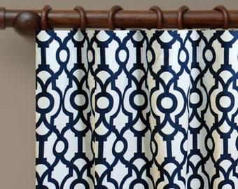 STORE WIDE SALE Custom Made Drapes Designer Geometric Fabric