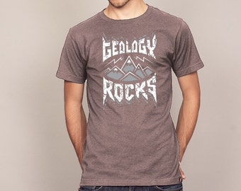 Geology ROCKS Funny Pun Geeky Science T-shirt Men's and Ladies Sizes