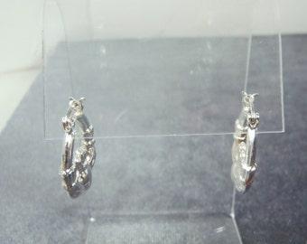Sterling Silver Claddagh Hoop Earrings E25