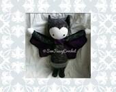 Vlad, Vampire, Stuffed Vampire, Vladimir, Vlad the Impaler, Vampire Toy, Crochet Vampire, Halloween Decor, Bat, Bat toy, Vlad Toy, Stuffed