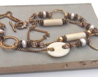 SALE Vintage Alcozer & J Necklace, Alcozer and J bijoux Firenze Bigiotteria di Lusso