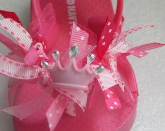 PRINCESS CROWN Flip Flops --- for Toddlers