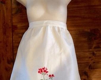 Embroided dreams vintage apron