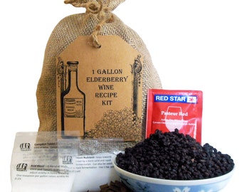 1 Gallon Elderberry Wine Ingredient Kit - Elder Berry Recipe Kit