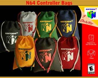 Nintendo N64 pull string controller bags