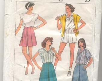 Simplicity 7463 Misses Set of Cullottes in four Lengths Vintage sewing pattern