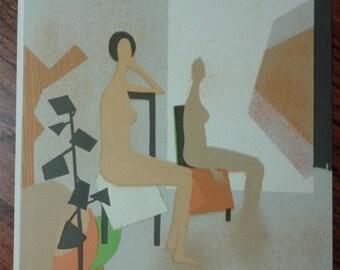 ANDRE MINAUX, Les deux modèles, 1974, Original Lithograph, C1970S, Vintage Art