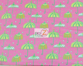 Cool Cords Umbrellas Hot Pink By Robert Kaufman 100% Cotton Corduroy  Fabric - Sold By The Yard (FH-2519)