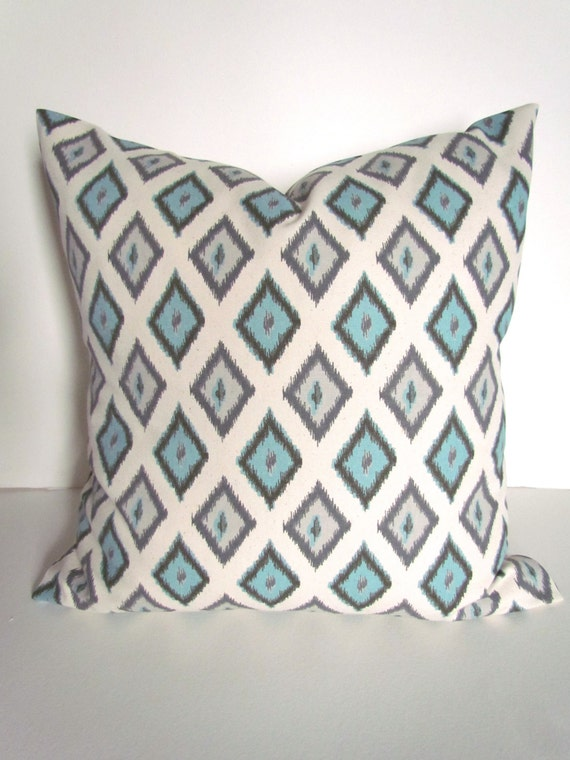 Blue PILLOWS SPA Blue Pillow Cover Blue Throw Pillow Covers