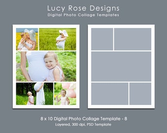 8 x 10 Photo Collage Template - 8