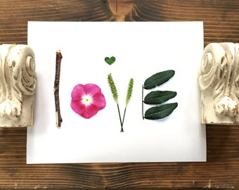 LOVE flower print