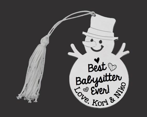 Personalized Ornament | Custom Ornament | Snowman Ornament | Personalized Christmas Ornaments | Babysitter Gift | Korena Loves