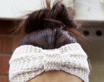 Knit Turban Headband, Knit Headband, Knit Beanie, Turban, Cute Turban Headband, Ear Warmer, Winter Hairband, Holiday Gifts, Fast Shipping