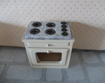 dollhouse oven cooker dollhouse stove cream kitchen miniature 1 12th scale dolls house kitchen appliance