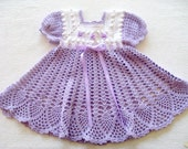 Crochet Pattern for Baby Girl Dress, PDF 12-007 INSTANT DOWNLOAD