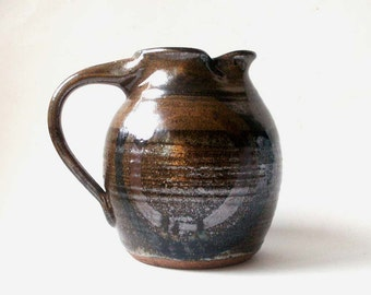 studio pottery pitcher, rustic pottery, pitcher