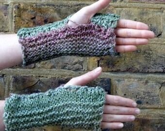 Handmade Knitted Pastel Woodland Handwarmers