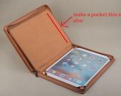 custom orange portfolio case for ipad 12.9