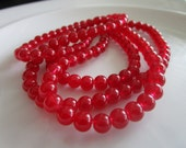 138 round Glass Beads deep red COLOR 4mm, bead supplies, glass beads, druk beads, beads for making jewelry, red beads, red glass beads, reds
