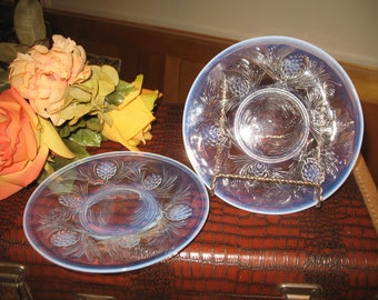 2 plates for bread Jobling opalic Firecone