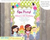 Girls Spa Party Invitation, Birthday Parties DIY Printable File