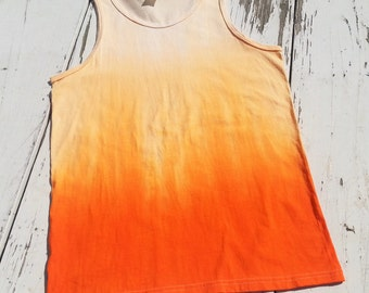 Soft Orange Ombre Tank Top