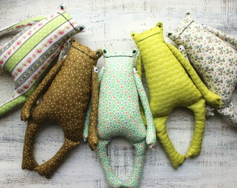 5 colors soft frog toy primitive safe stuffed frog 12' baby shower gift nursery decor