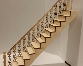 Cyprus 1:12 Scale Victorian Straight Staircase