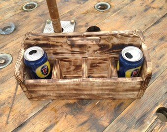 8 pack upcycled beer can carrier
