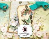 75% OFF SALE SHABBY Elegance Digital Collage Sheet Digital Tags Tiny Tags and Tiny Heart Digital Collage Instant download