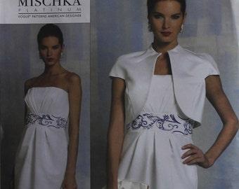 Jacket & Dress by Badgley Mischka -2010's- Vogue 1154  Sizes 6-8-10-12 or 14-16-18-20